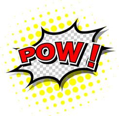 Pow! - Comic Speech Bubble, Cartoon