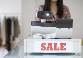 Sale Sign on Cash Register