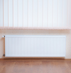 Photo heating radiator under window