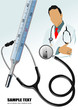 Medical doctor, stethoscope and thermometer. Vector illustration