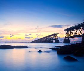 Sunset at Bahia Honda Key State Park in Florida
