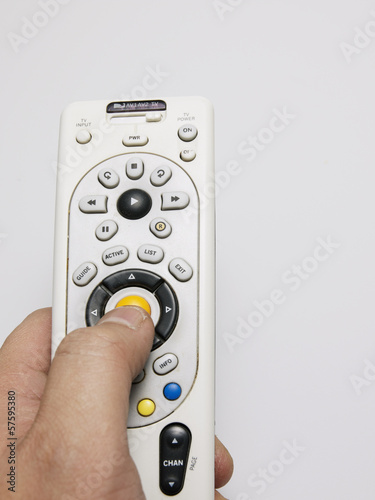 Close-Up of Person Using Remote Control