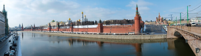 Panoramic view of the Kremlin in Moscow