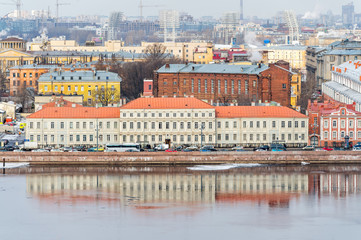 Cityscape of St. Petersburg in Russia