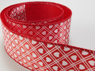 Patterned Red Ribbon