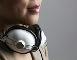 Close-Up of Woman with Headphones