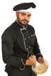 Chef mixing dough