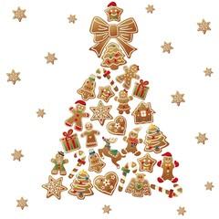 クリスマスツリーとビスケット
