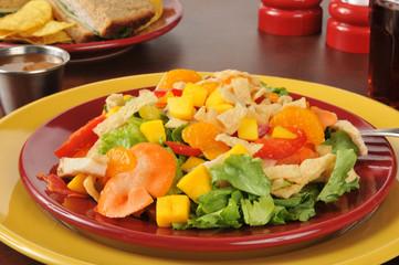 Tropical salad closeup