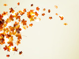 Flying autumn leaves background. EPS 10