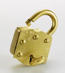 Key in Golden Padlock