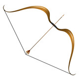 Vintage bow and arrow
