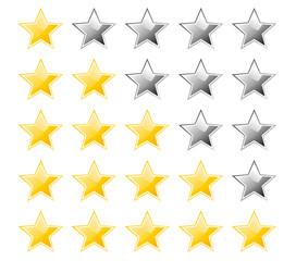 Set of rating stars