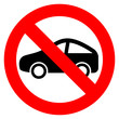 No car vector sign
