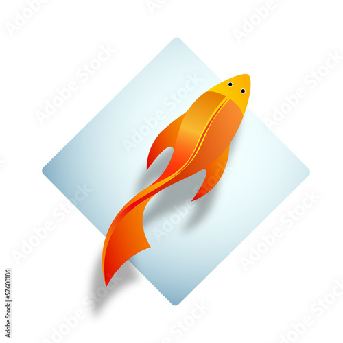 Vector Logo Red Fish