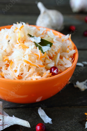 Healthy sauerkraut with cranberries