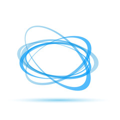 Vector Blue Rings Background