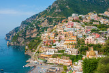 View of the Positano city on Amalfi Coast, Italy