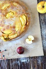delicious apple pie with honey