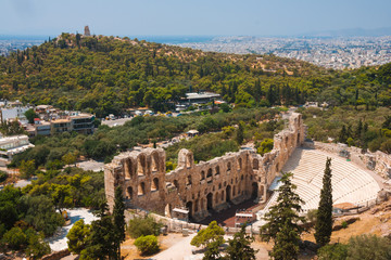 Herodes theater of the Acropolis in Athens