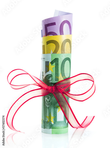 packaged banknotes for christmas gift