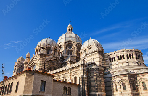 Back view of Marseilles Cathedral (XIX c.)