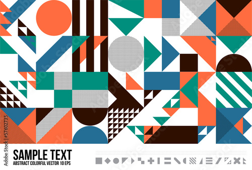 Abstract Geometric Triangle Pattern.  Background, Cover, Layout