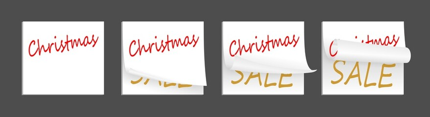 christmas white adhesive papers