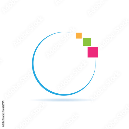 Vector logo Digital World