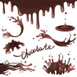 Chocolate splashes