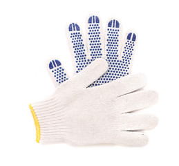 Pair of thin working gloves.