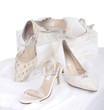 Beautiful and luxury bride's shoes