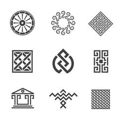 History construction decoration creativity logo template