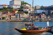 old Porto and traditional boats with wine barrels, Portugal