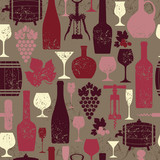 Wine seamless background