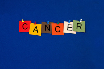 Cancer -  sign for science, biology and medical health care