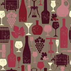 Wine seamless background