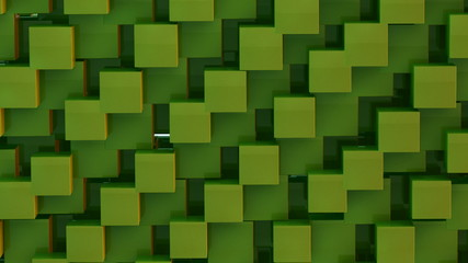 3D green abstract background seamless loop