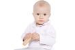 niemowlę na białym tle