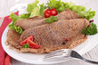 buckwheat crepe with salad