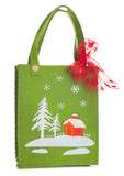 Cloth bag with Christmas decorations