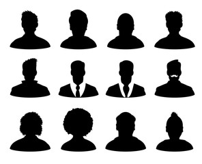 User avatar profile figure businessman silhouette illustration