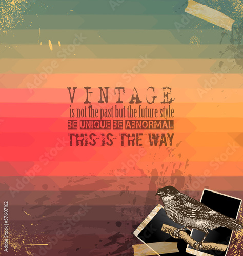 Vintage Scrapbook with hipster background