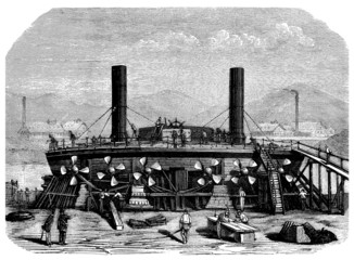 Ship : Steamer (B) 19th century