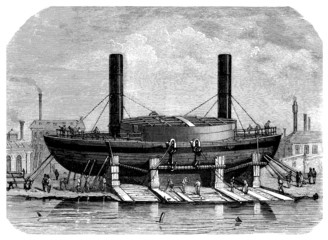 Ship : Steamer (B) - 19th century