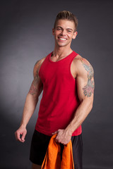 man at gym