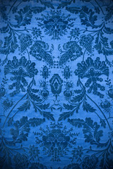 vintage blue fabric background