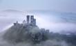 Foggy Corfe Castle