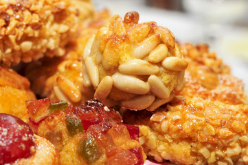 panellets, typical pastries of Catalonia, Spain, eaten in All Sa