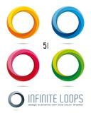 Infinite Loop Vector Design Elements - 57608509
